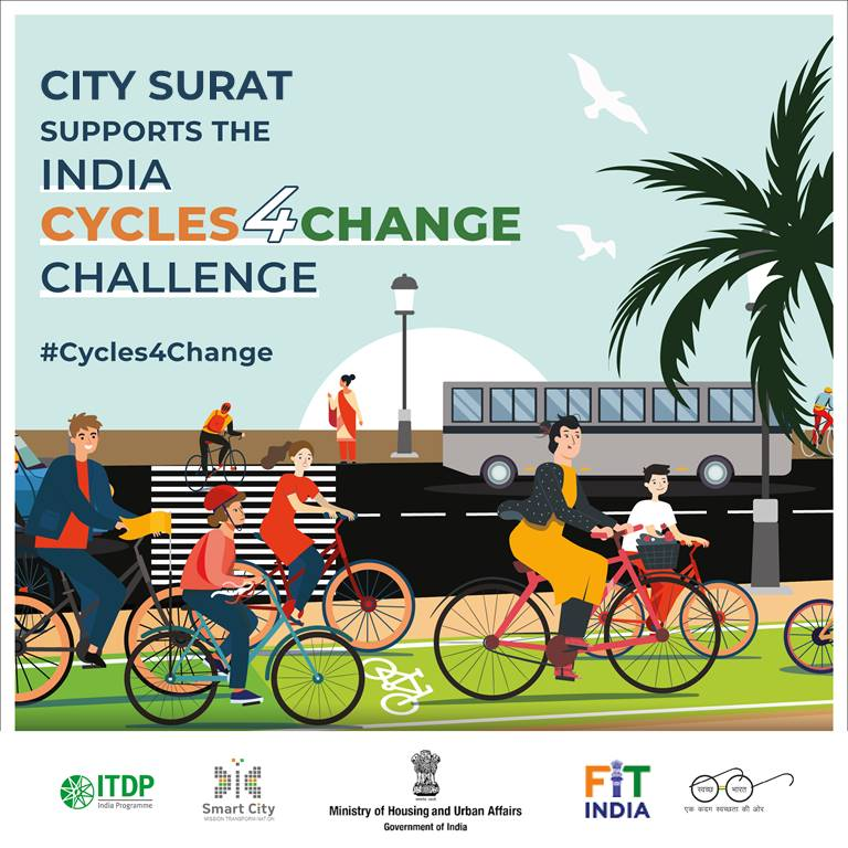 #Cycles4Change: Let's pedal for a fit & pollution-free Surat.