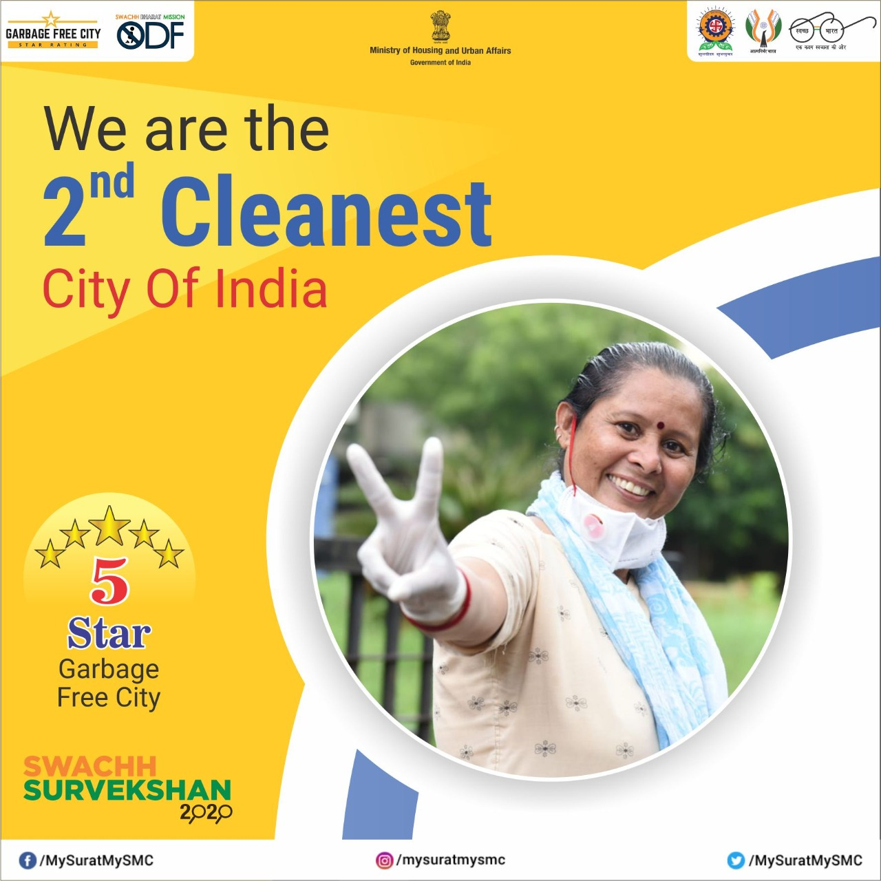 Congratulations! Surat wins the second rank in Swachha Survekshan