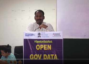 Shri M Nagarajan (IAS) on the Closing Ceremony of #OpenGovDataHack Surat