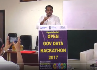 Shri M Thennarasan (IAS) at the Closing Ceremony of #OpenGovDataHack Surat
